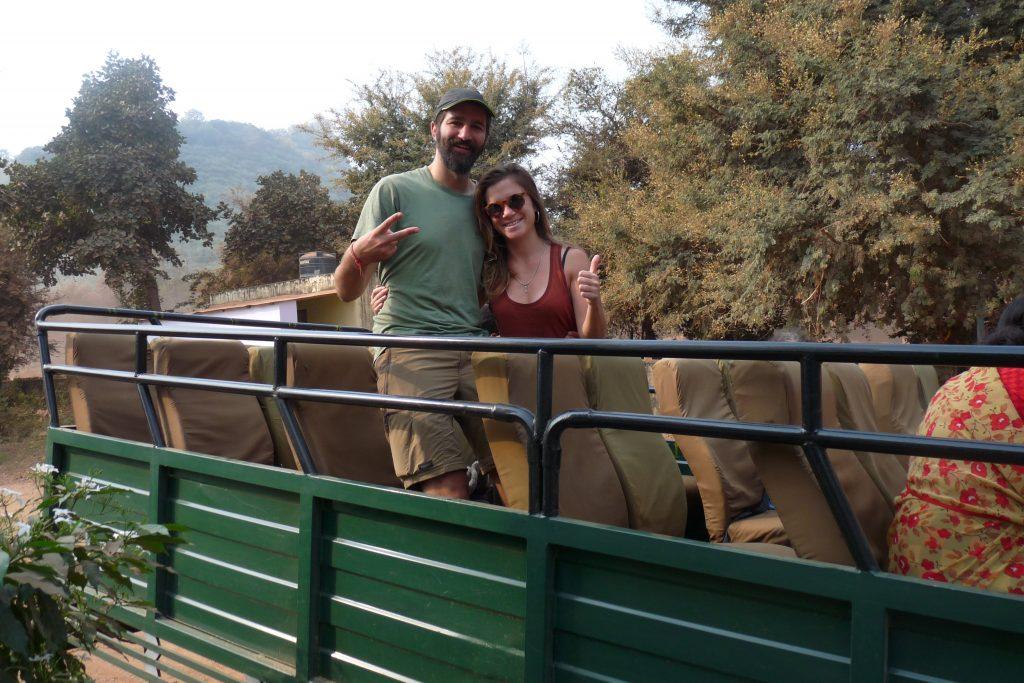 Uno de los safaris que hicimos por Ranthambore